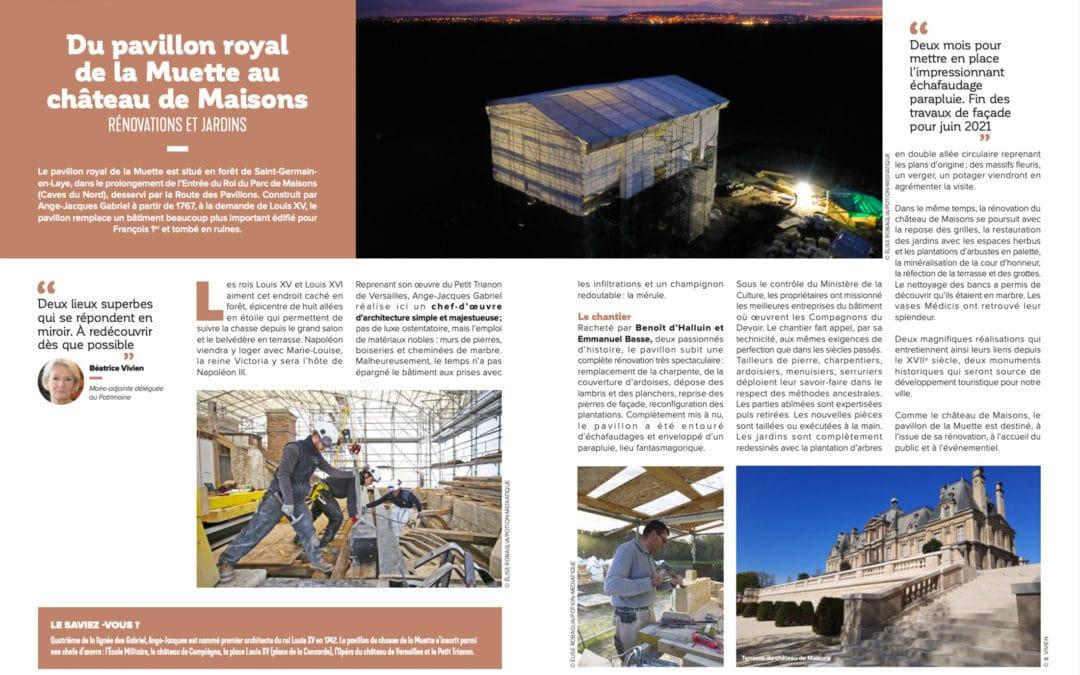 Vivre à Maisons-Laffitte, juin 2021 : Du Pavillon Royal de la Muette au château de Maisons