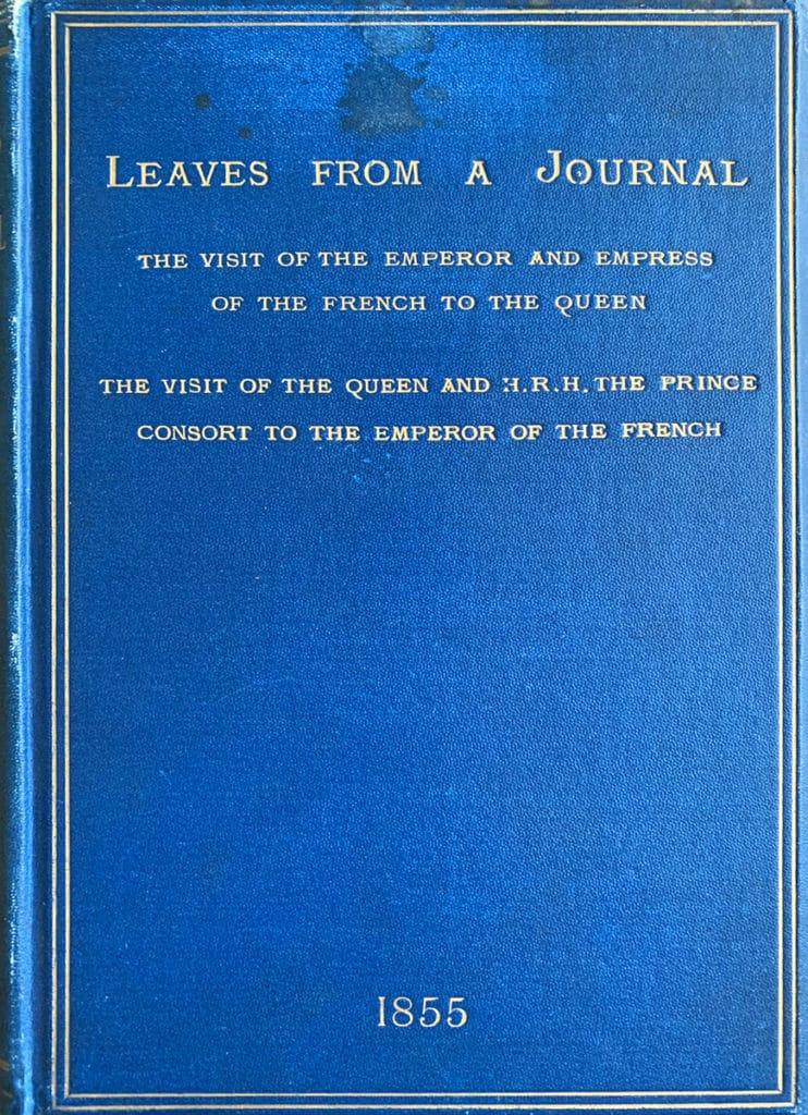 """couverture du livre """"Leaves from a Journal"""", extraits des notes de la Reine Victoria"""